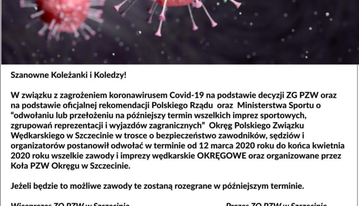 koronawirus zawody odwołane
